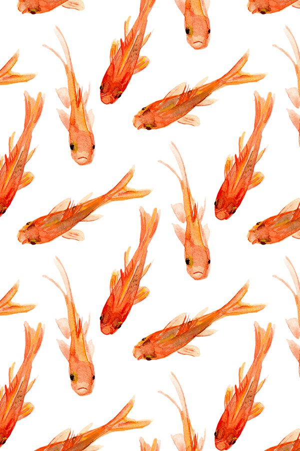 Colorful Fabrics Digitally Printed By Spoonflower Goldfish