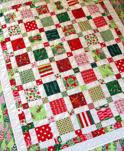 the first finished christmas quilt