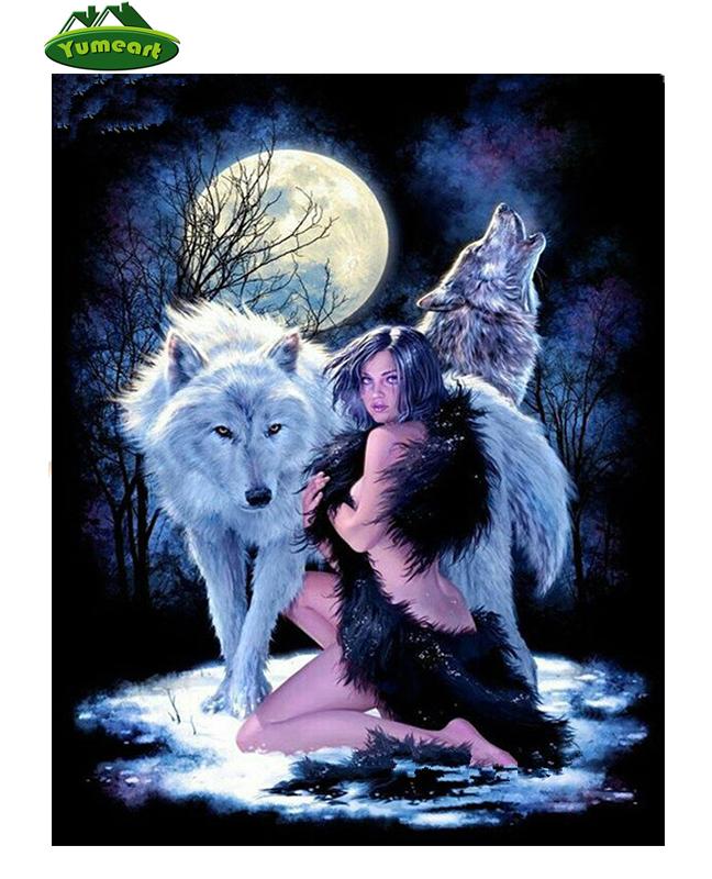 DIY 5D Diamant Painting Full Strass Stickerei Wolf Bilder Mosaik Malerei