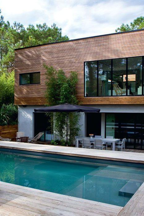Cap-Ferret  une maison contemporaine à voir Architecture, Jacuzzi - location maison cap ferret avec piscine