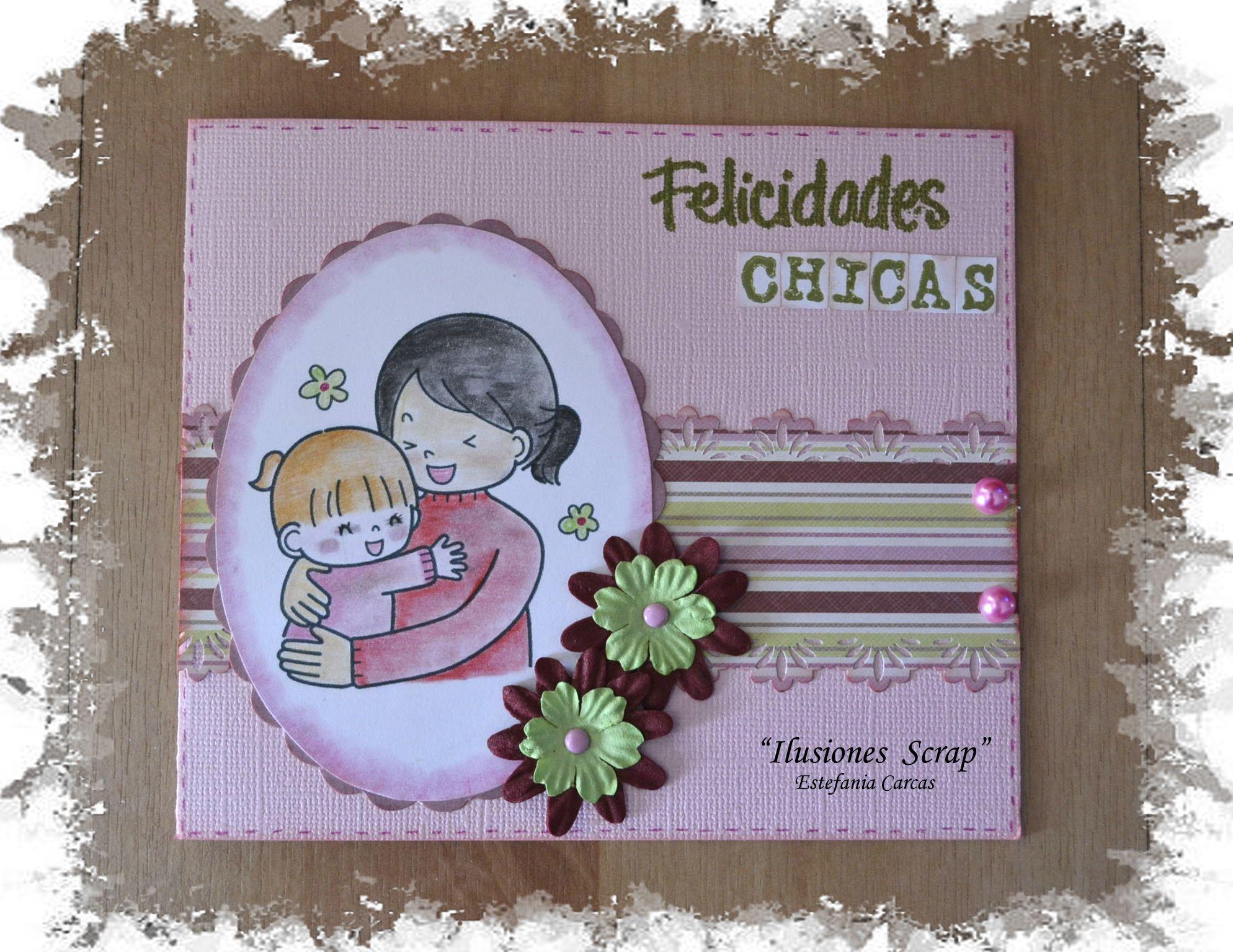 Tarjeta Para Una Mama Y Su Hija Que Cumpla An El Mismo Da A Tarjetas
