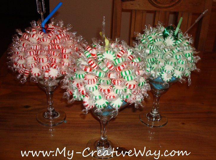 Peppermint candy bouquets i made these