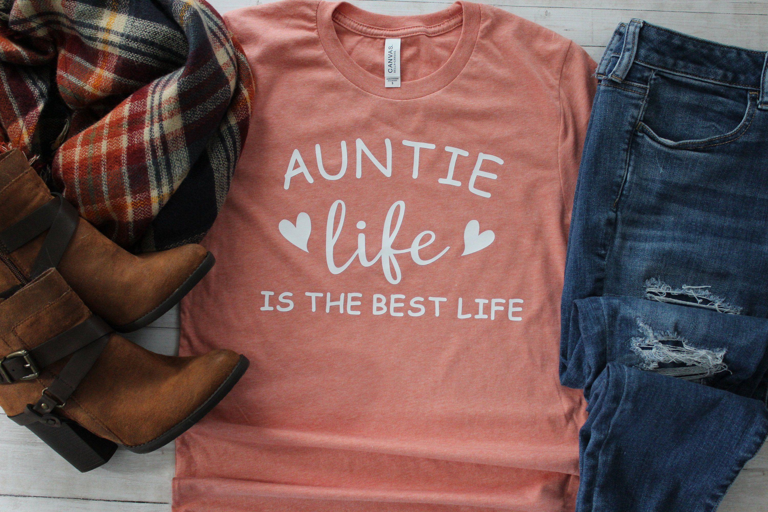 Auntie Life is the Best Life Shirt, Auntie TShirt, Pregnancy Announcement