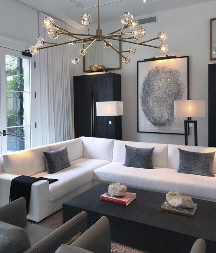 Living Room Cozy Comfortable Clean White Modern Chic