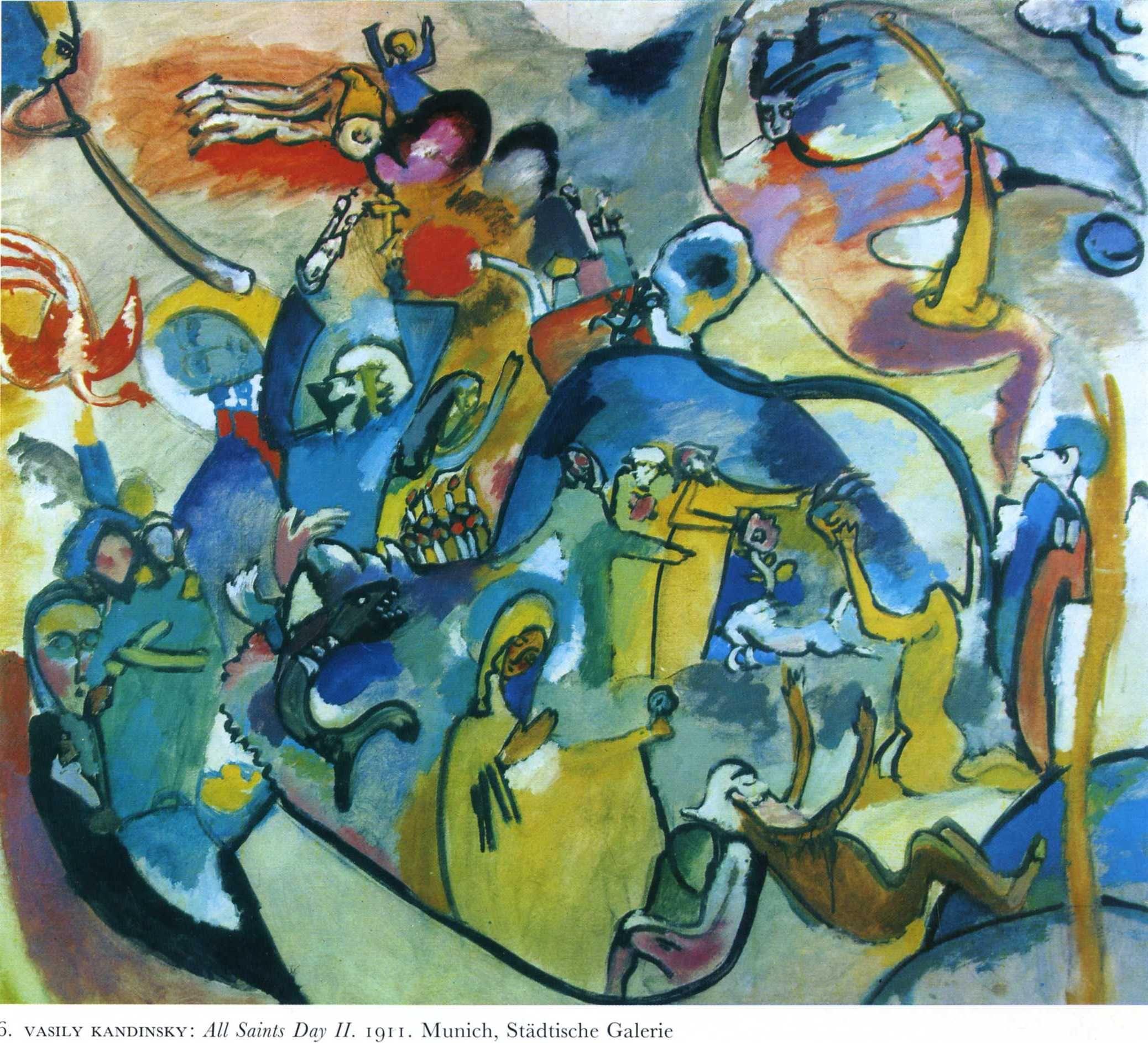 Wassily Kandinsky All Saints Day I 1911 Stadtische Galerie Im Lenbachhaus Munich Germany Kandinsky Kandinsky Art Wassily Kandinsky