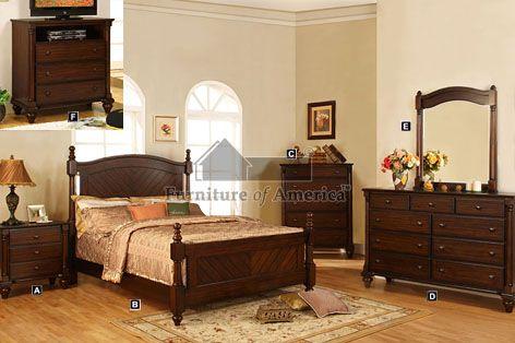 Beautiful 5 pc Vandenberg Cottage Style Dark Walnut Wood Finish Queen Bedroom Set A In 2018 - Beautiful Cottage Style Bedroom Furniture Minimalist
