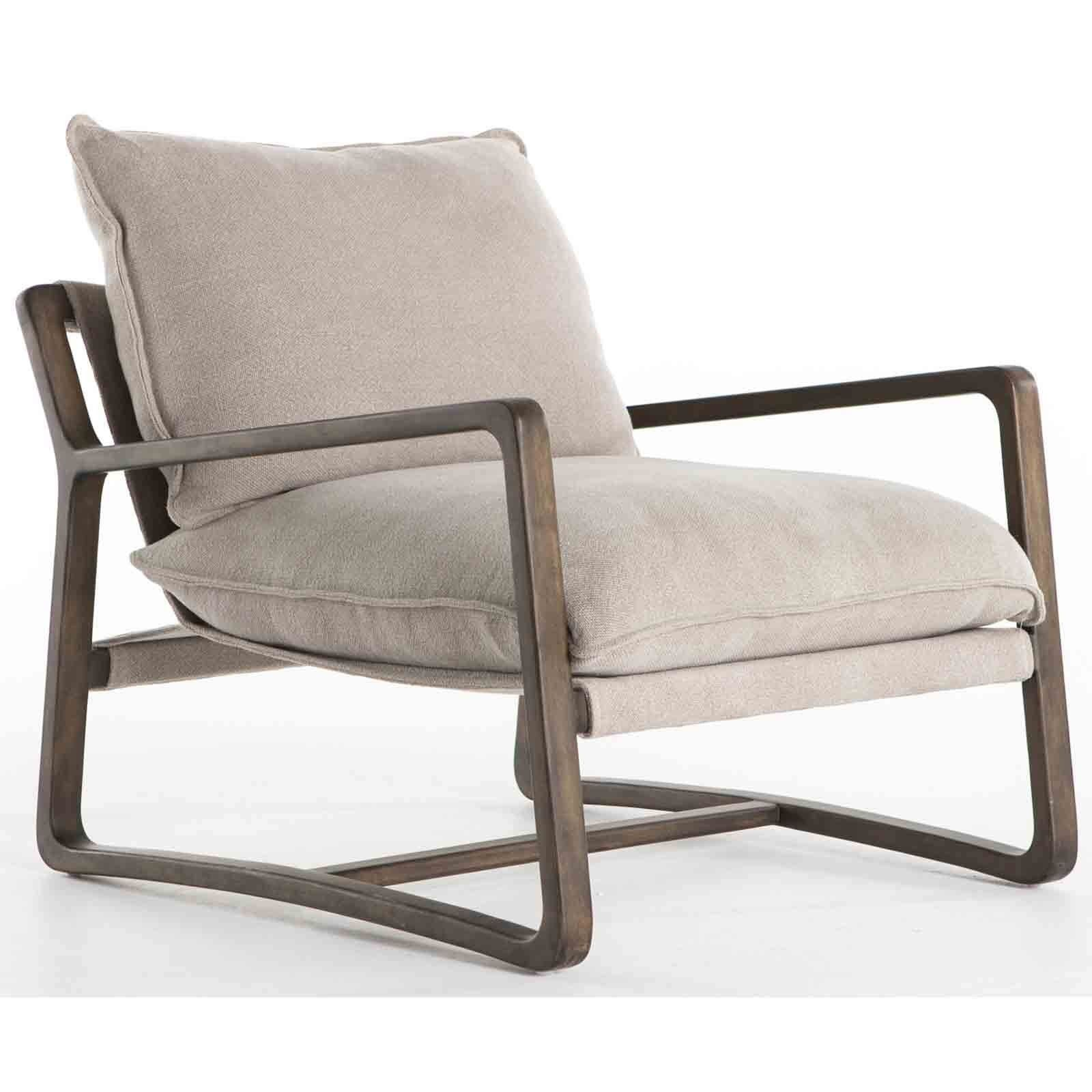 Enjoyable Ace Chair Cobblestone Jute Wood Arm Chair Accent Chairs Evergreenethics Interior Chair Design Evergreenethicsorg