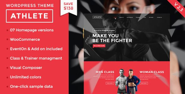Athlete V  Fitness Gym And Sport Wordpress Theme  HttpWww