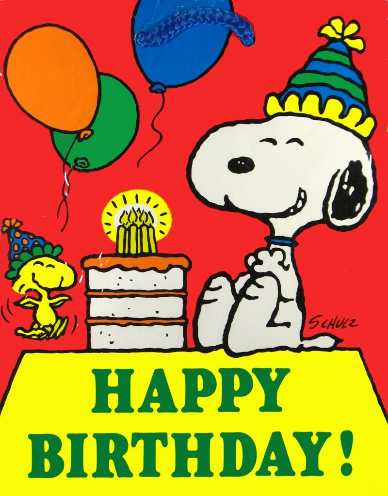 Happy Birthday Puppy Love Snoopy