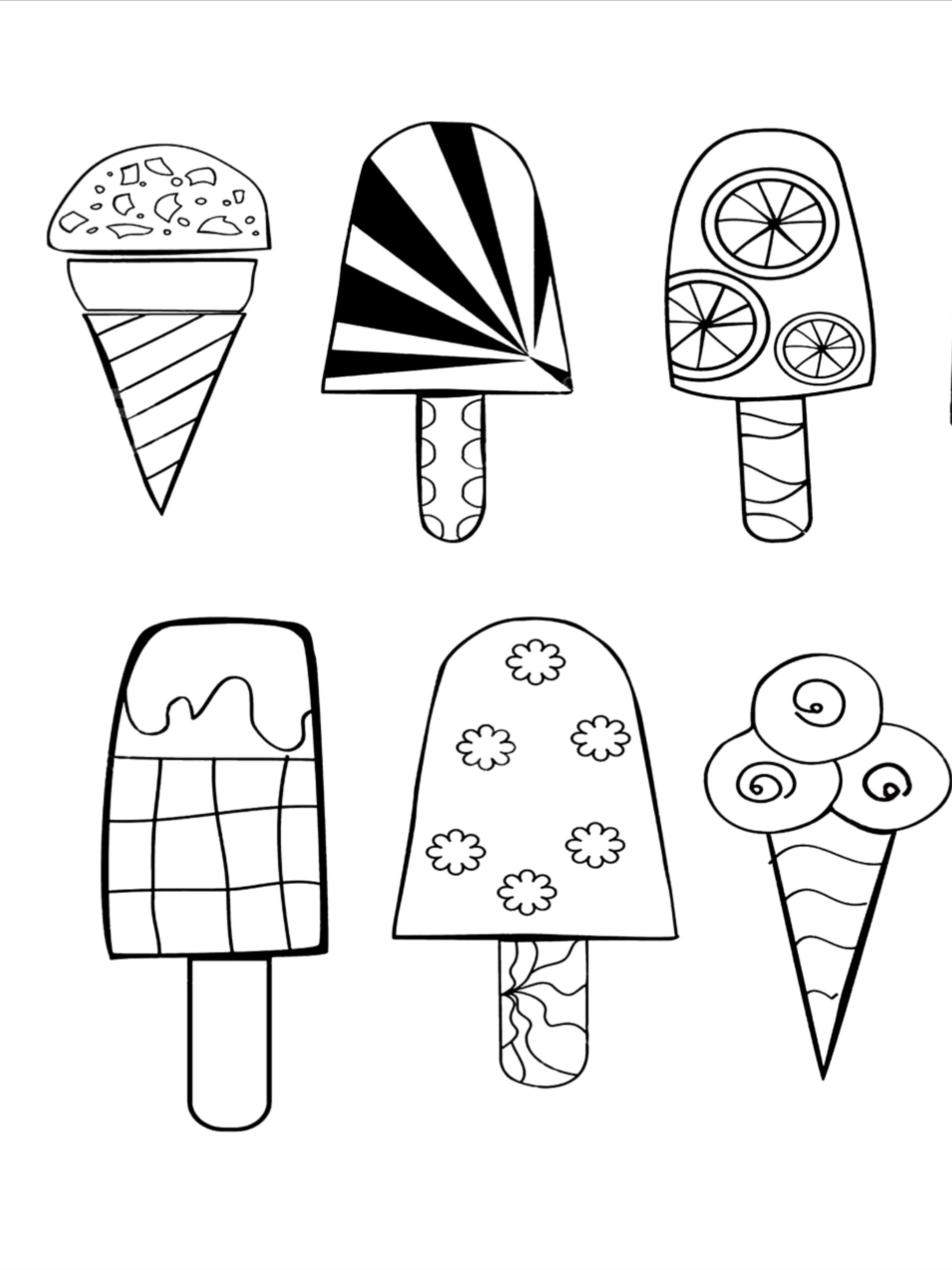 50 Ice Cream Coloring Pages For Kids
