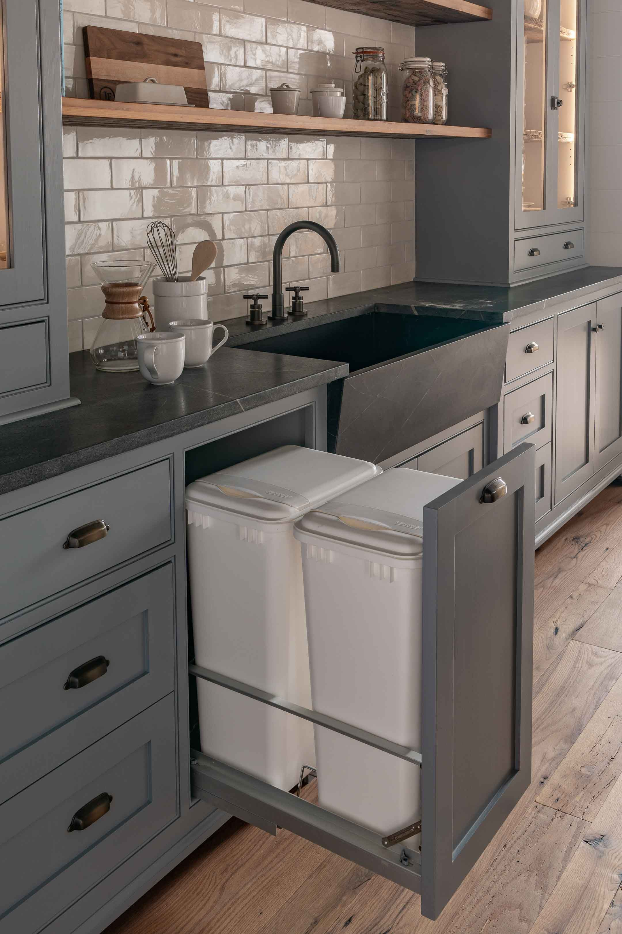 Why Every Kitchen Should Have Built In Trash Cans Built In