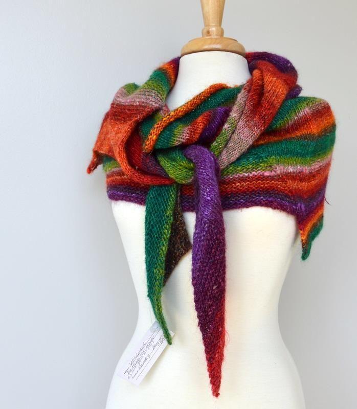 Yarn: Noro Silk Garden Lite Pattern: Windward | Косынки ...