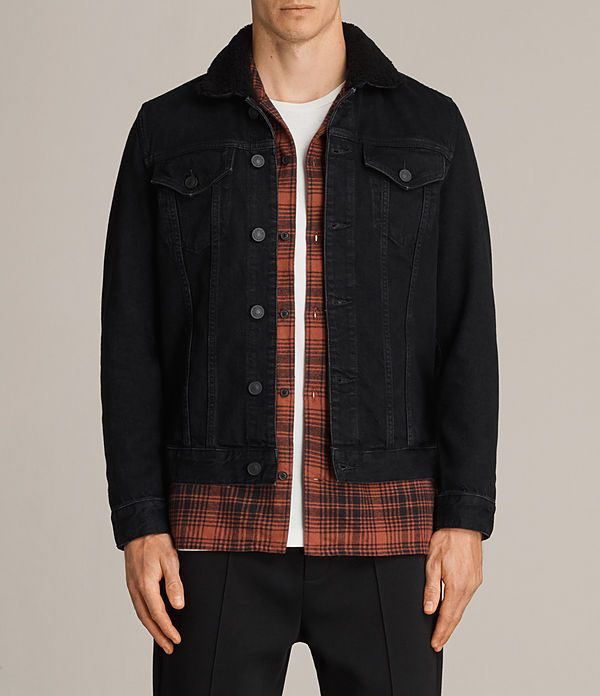 957c0f9731 Allsaints Jacket Large  214 · Allsaints JacketsStylish JacketsBlack  DenimMen s ...