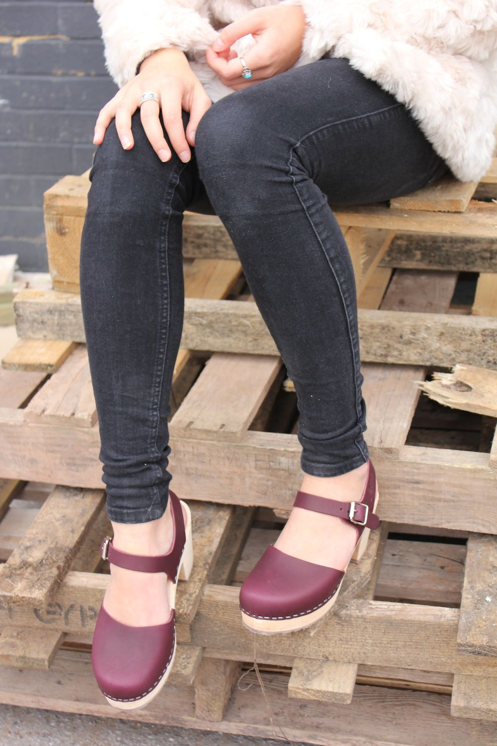 best website 22858 78843 Lotta From Stockholm Clogs, platform, clogs, style, grey, black jeans,  autumn, style, fashion, shoes