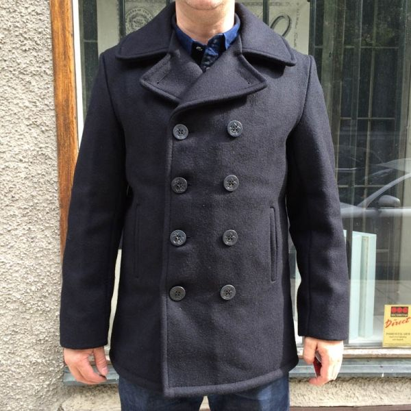 7be1f8c9181 Schott Classic 32 Oz. Melton Wool Navy Pea Coat in the group Men   Jackets  and coats at Sivletto (w10712)