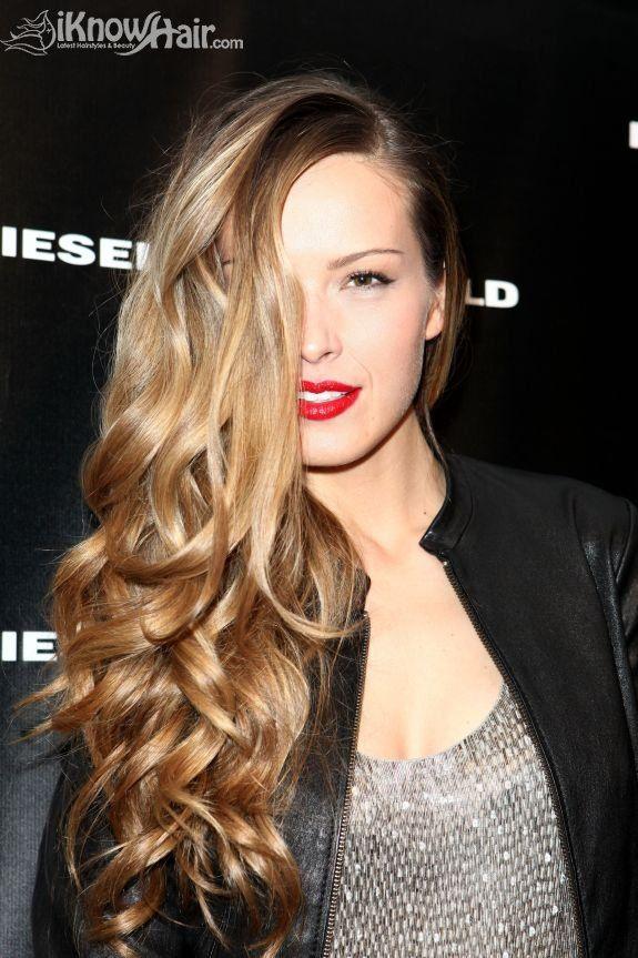 Homemade Curls - Long Hair Styles - Red Lip