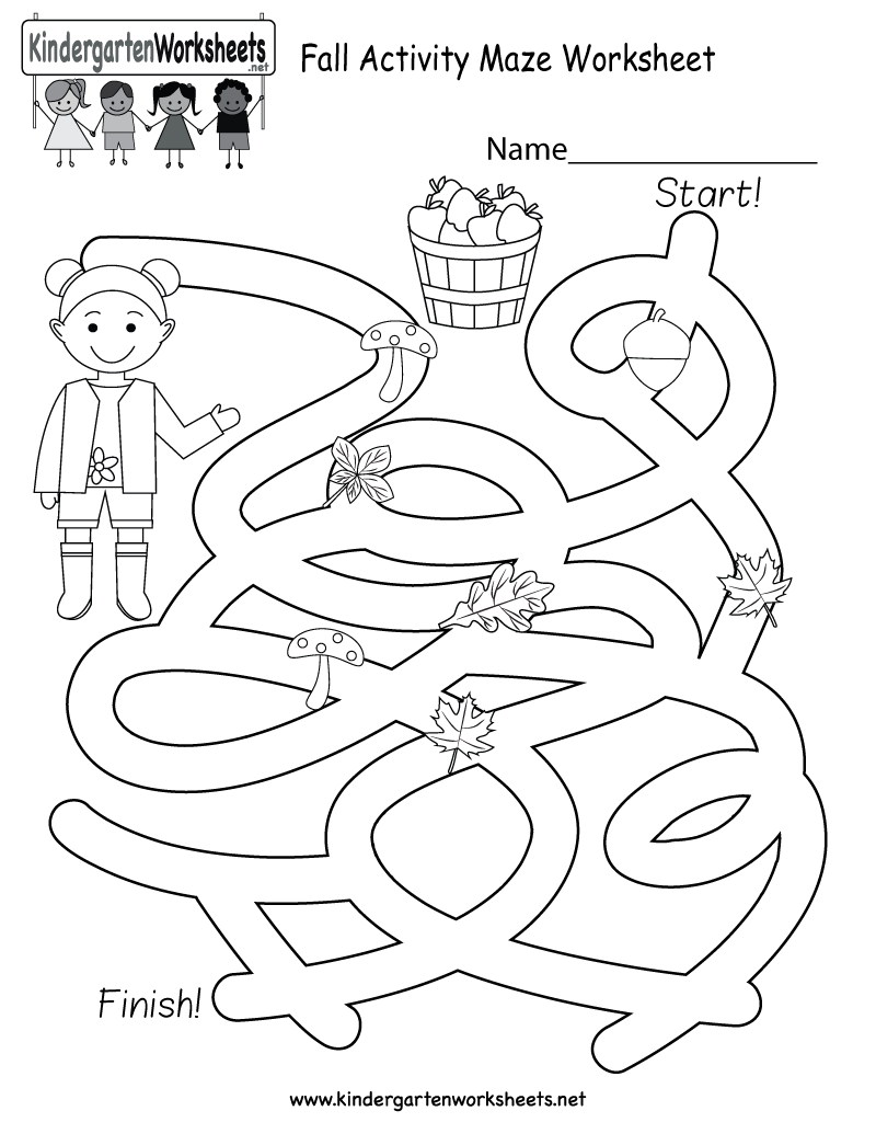 This Is A Fun Fall Maze Worksheet This Would Be A Wonderful Autumn Activity For Kindergarteners Maze Worksheet Mazes For Kids Worksheets For Kids [ 1035 x 800 Pixel ]