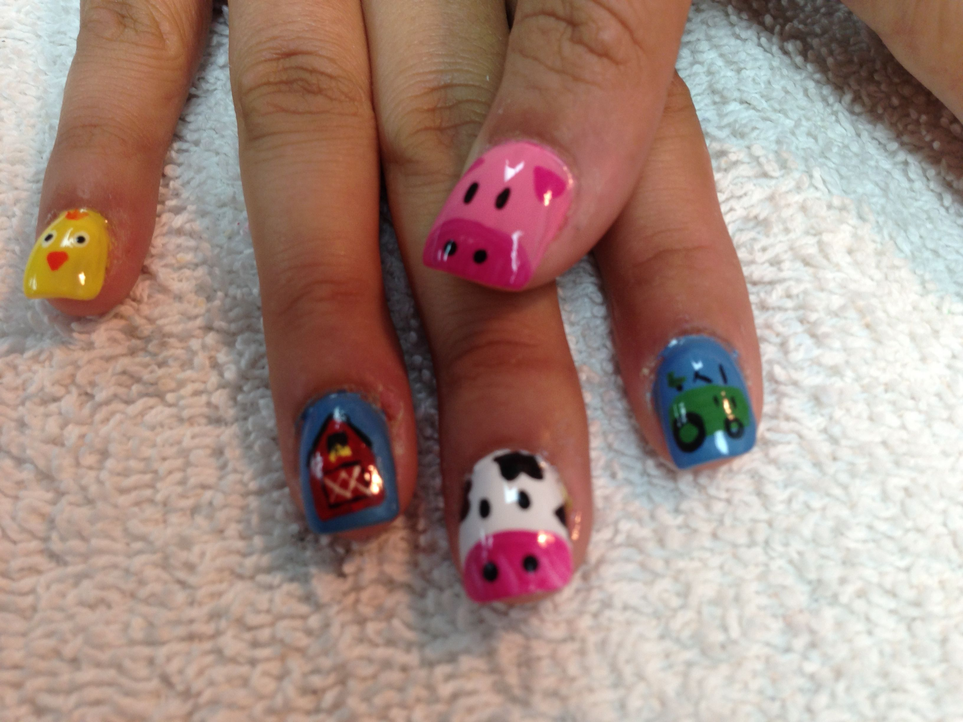 Farm animal nails | My nails | Pinterest | Farm animal nails ...