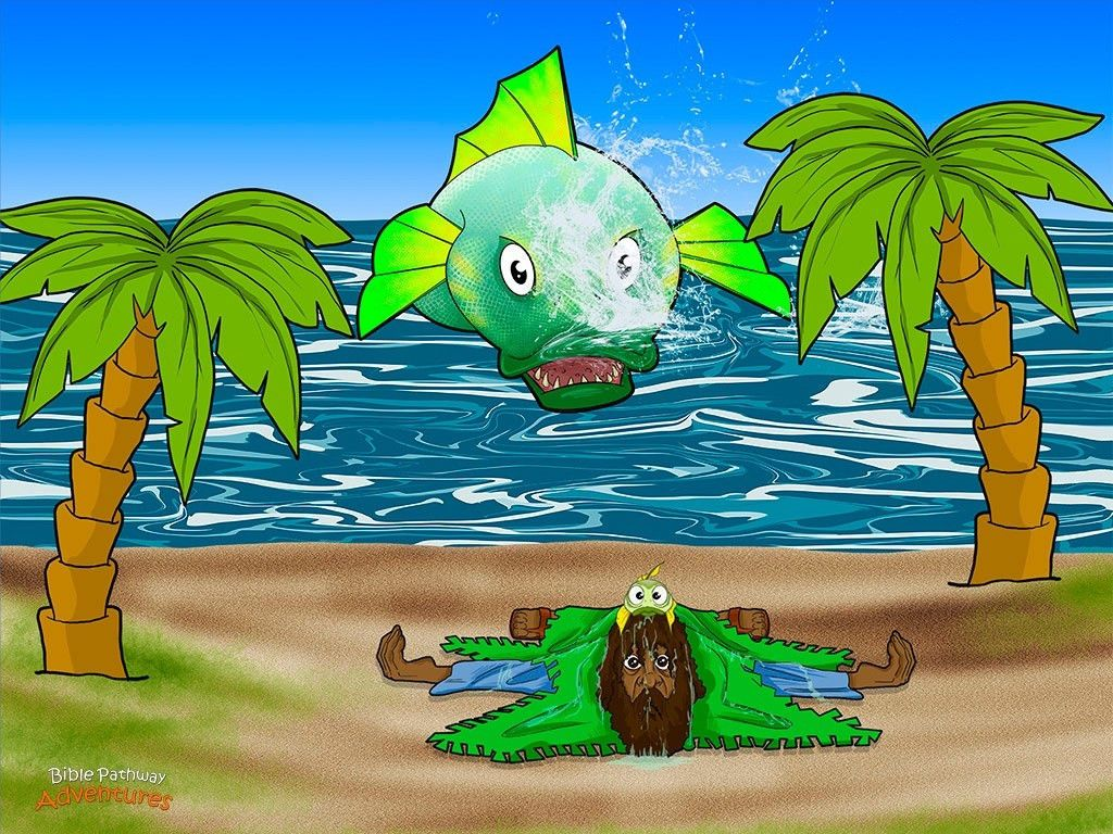 Free Visuals: Jonah and the Great Fish   Bible: Jonah and the Great ...