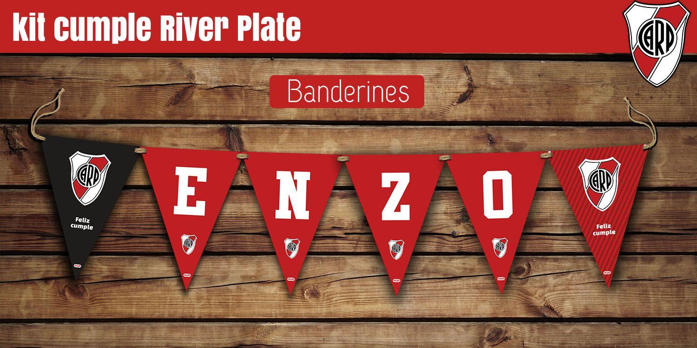 Banderines De Cumple Con El Nombre Más Banderines Extras