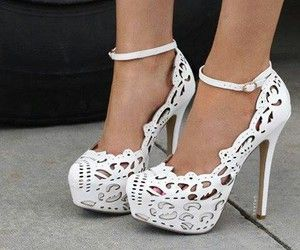 White Lace Stilettos