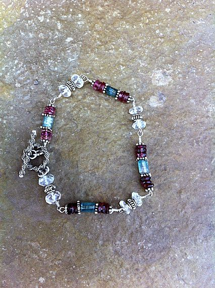 Morganite Blue Tourmaline and Watermelon by SusanKlekarDesigns