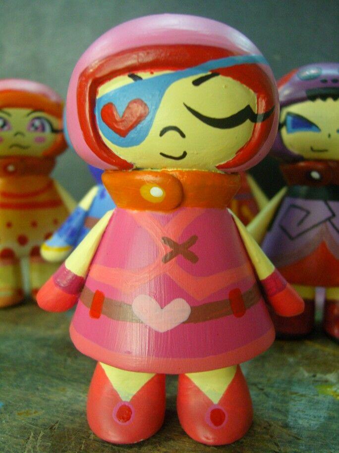 Model : Fiber : Sculpture : Art Camp : My Little Girl # 3