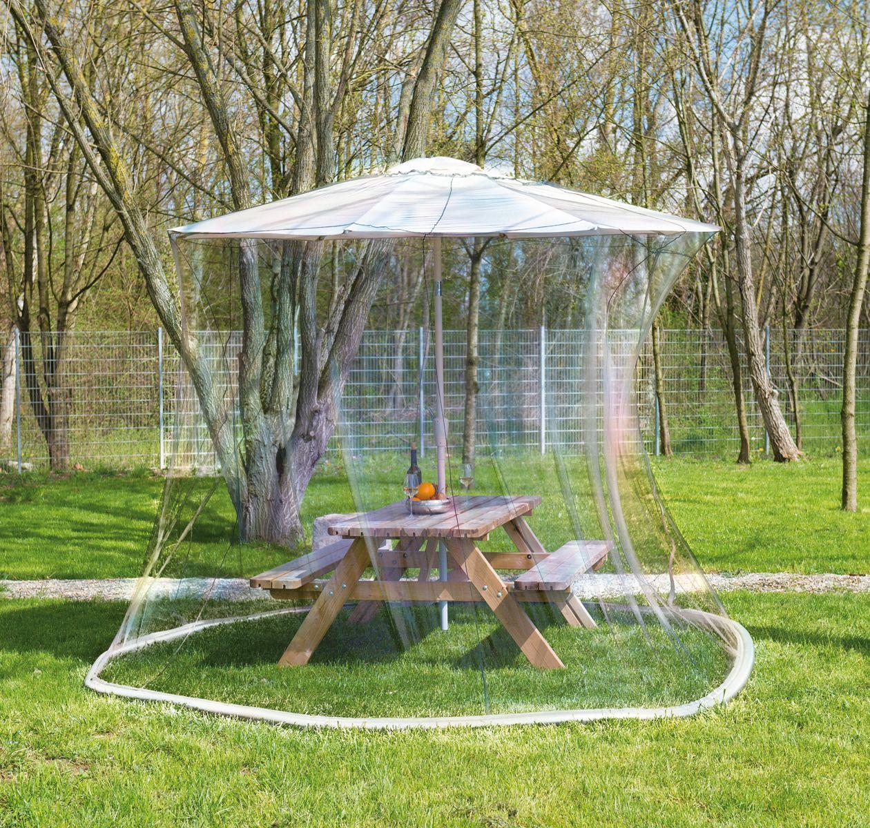 moustiquaire cylindrique pour parasol en maille 220 330 x 250 cm pr parer l 39 t oklm. Black Bedroom Furniture Sets. Home Design Ideas