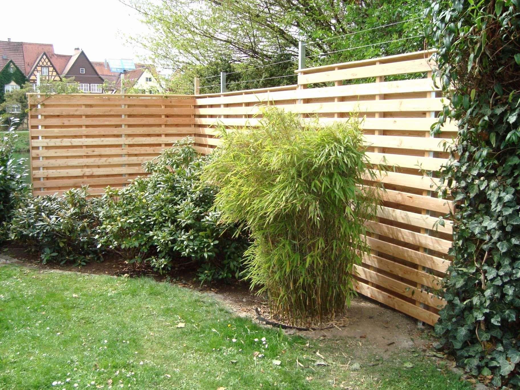 32 Elegant Holz Sichtschutz Garten Foto Trennwand Garten