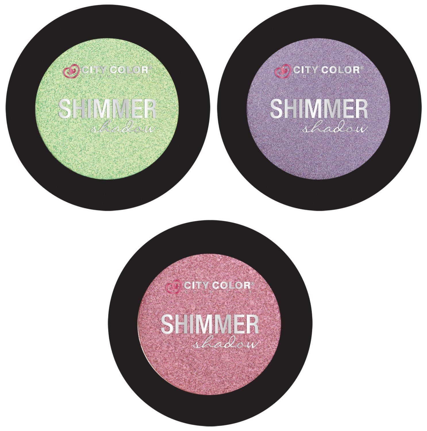 City Color Shimmer Shadow/3 Pack Eyeshadow (Hint of Mint
