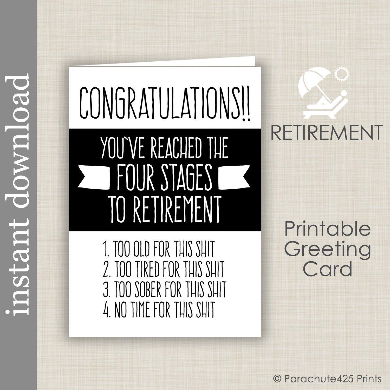 236C Happy Retirement Card Funny Retirement Card Funny Work Retirement Card Employee Retiring Card Work Card Boring Meetings Card