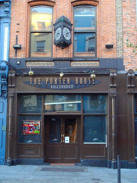 The Porter House in Dublin, Ireland. The greatest bar in the world. Period. Best small brewery in Dublin