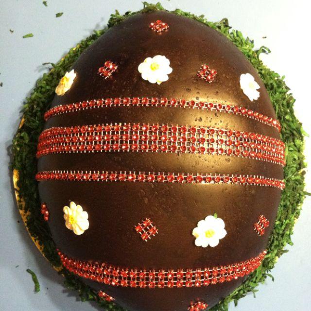 Chocolate Easter egg cake.
