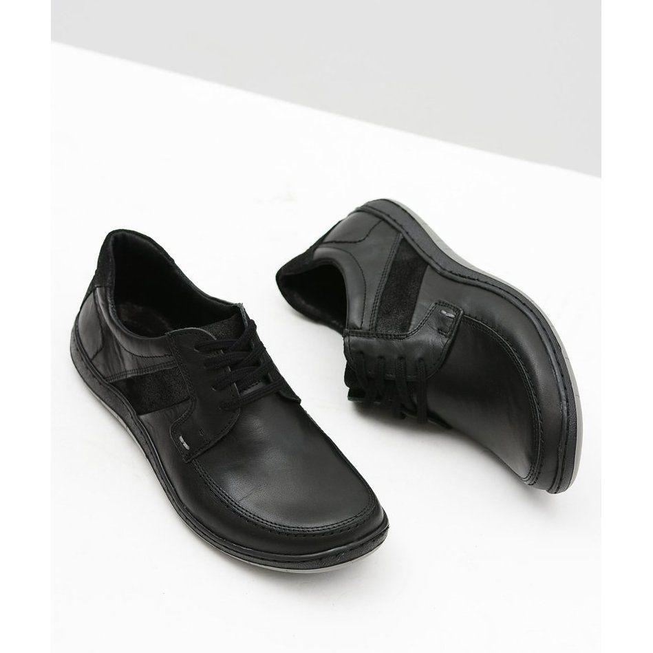 Komodo Skorzane Meskie Klasyczne Czarne Polbuty Rocco Shoes Dance Shoes Sport Shoes
