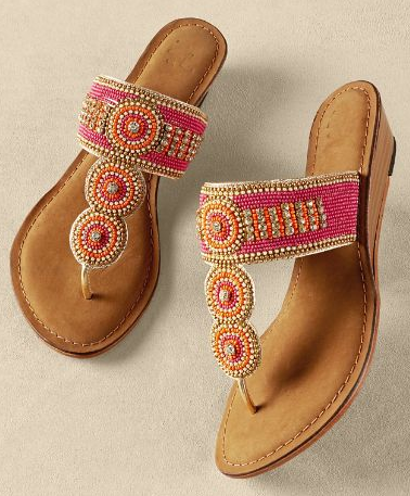 Palm Beach Sandals (71462) in Pink | Soft Surroundings in