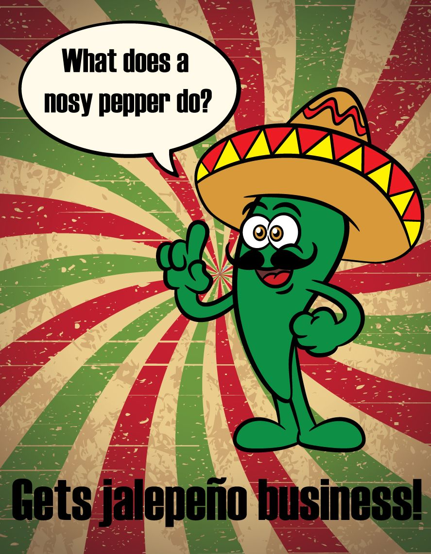 What does a nosy pepper do? #FunnyFriday   VESi Fun