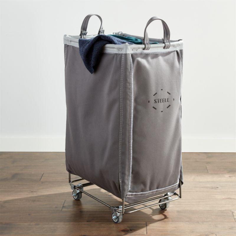 Steele Briquette Vertical Canvas Laundry Bin Reviews Crate And