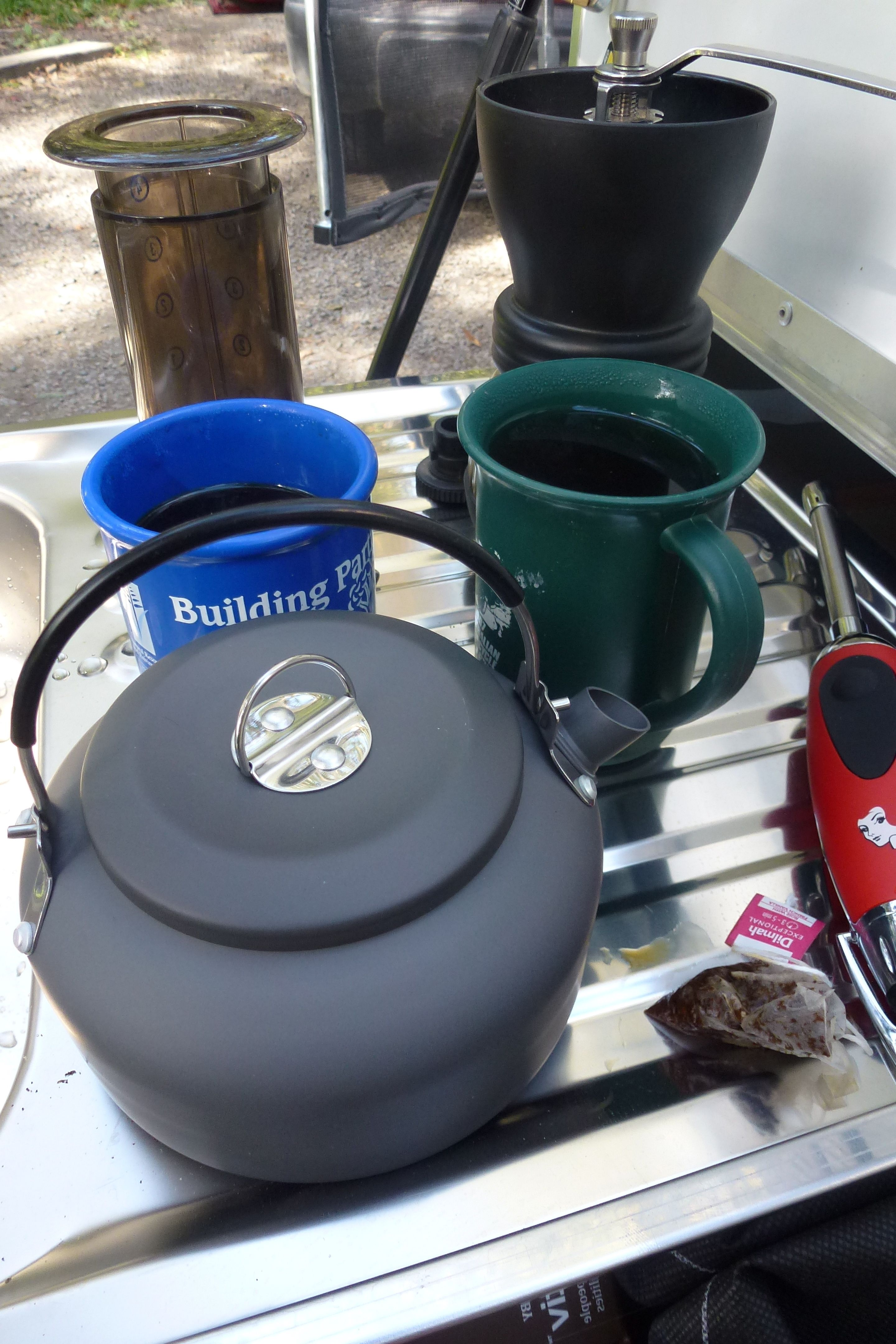 We got the nifty kettle from Aldi. It's tiny, but just