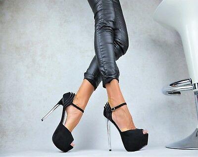 Neu Designer Damenschuhe Peep-Toes High