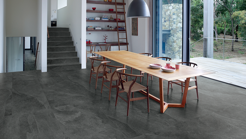Exceptional How Gorgeous Is Our Cornerstone Series Tile, Seen Here In Slate Black   A  Very Dark Grey. Itu0027s Available In 3 Sizes And Great For Both Floors And  Walls.