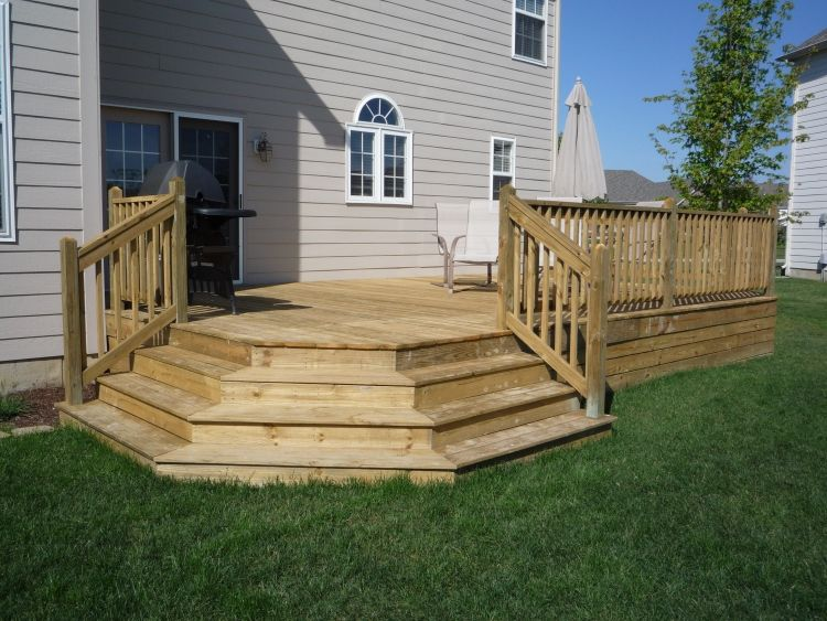 12 X 16 Deck Plans With 11 Table Bump Out Backyard Patio