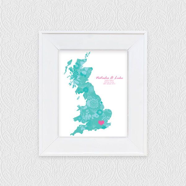 Keepsake Wedding Gifts: Keepsake Printable Wedding Map. Via Etsy.