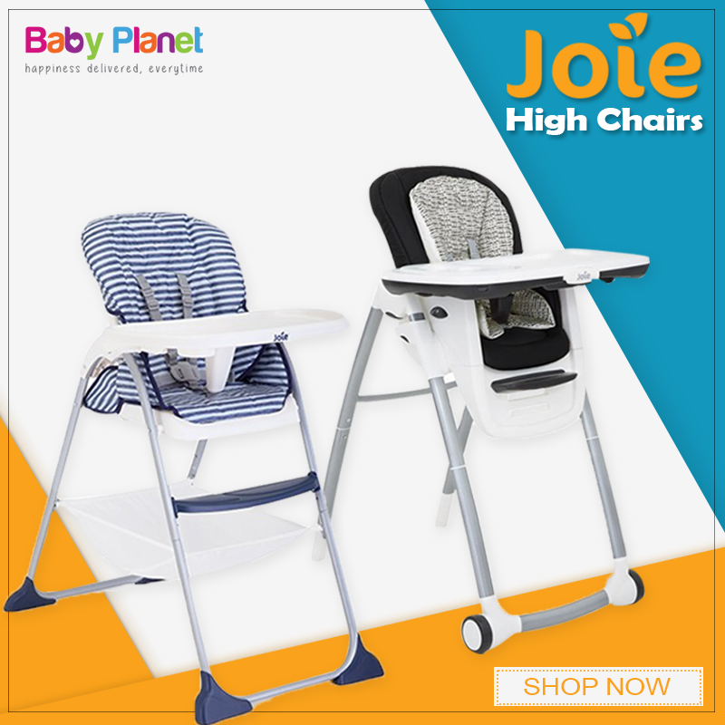 These High chairs comes with Onehand, quick compact fold