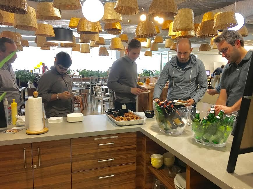 Office events are perfect opportunities for entrepreneurs to network over great food!