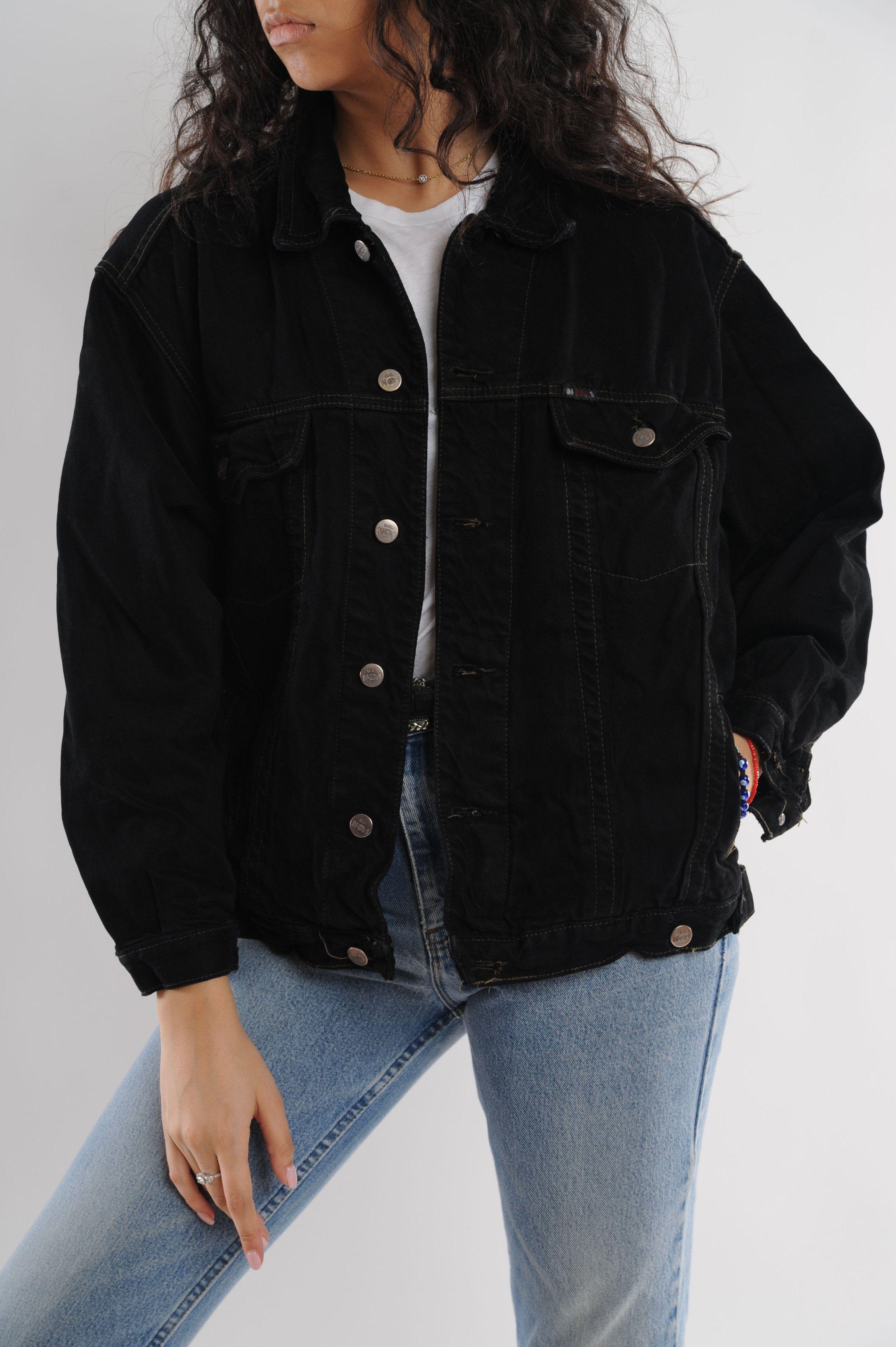 Black Denim Jacket Black Denim Jacket Outfit Black Denim Jacket Trendy Jackets [ 4255 x 2832 Pixel ]