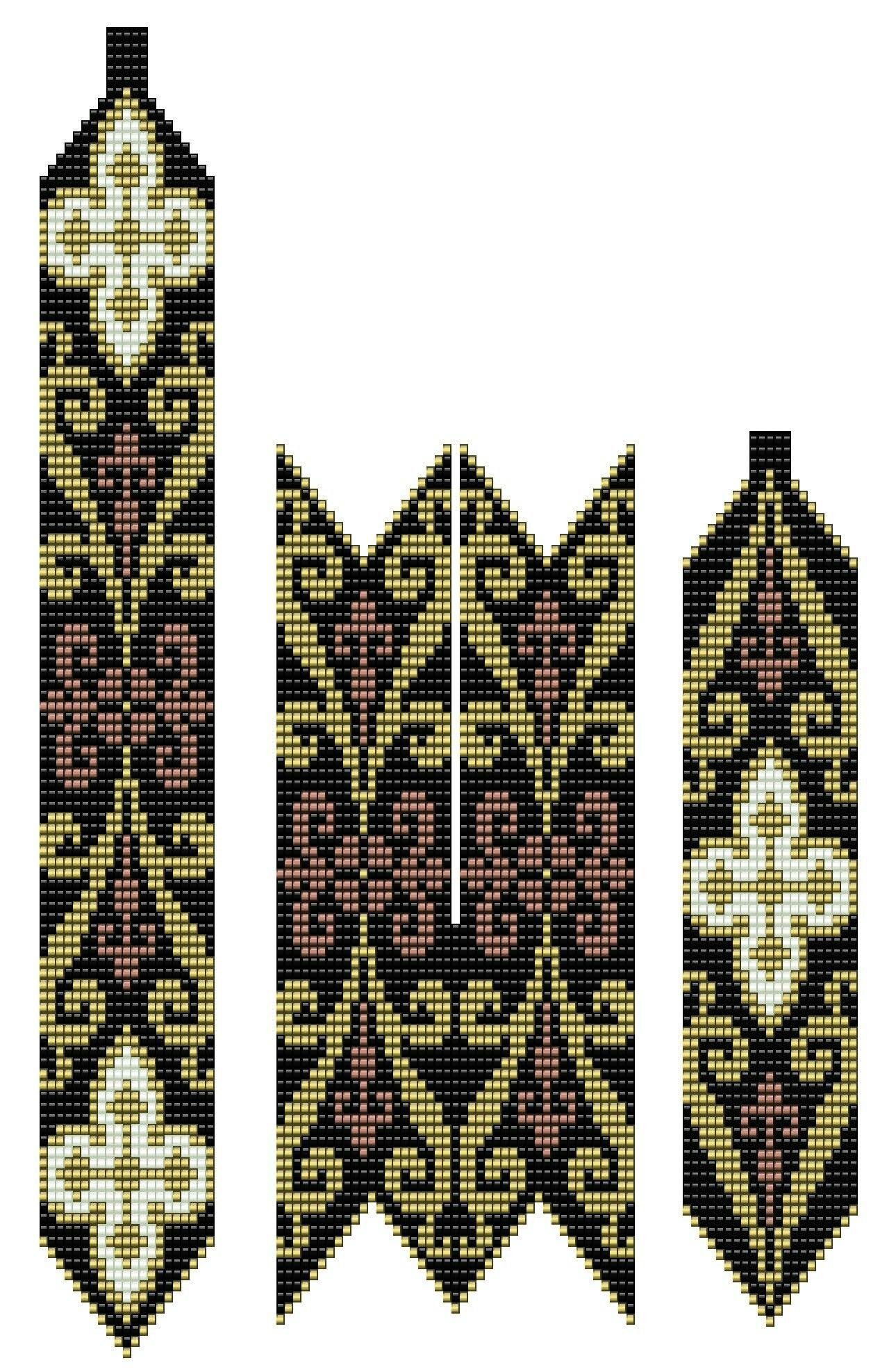 схемы бисероплетения цветов рябчики