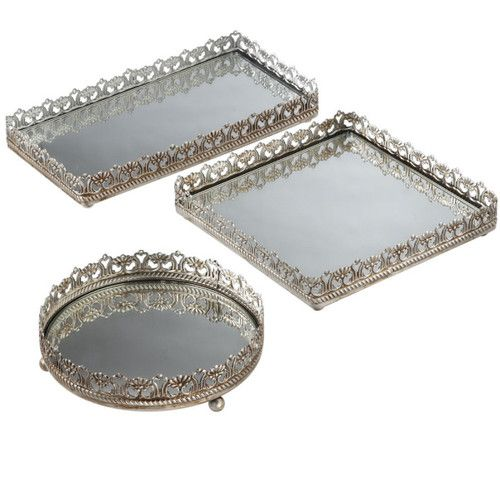 Shabby French Country Tuscan Chic Antique Champagne Wine Bar Vanity Trays  S/3 | eBay - Shabby French Country Tuscan Chic Antique Champagne Wine Bar