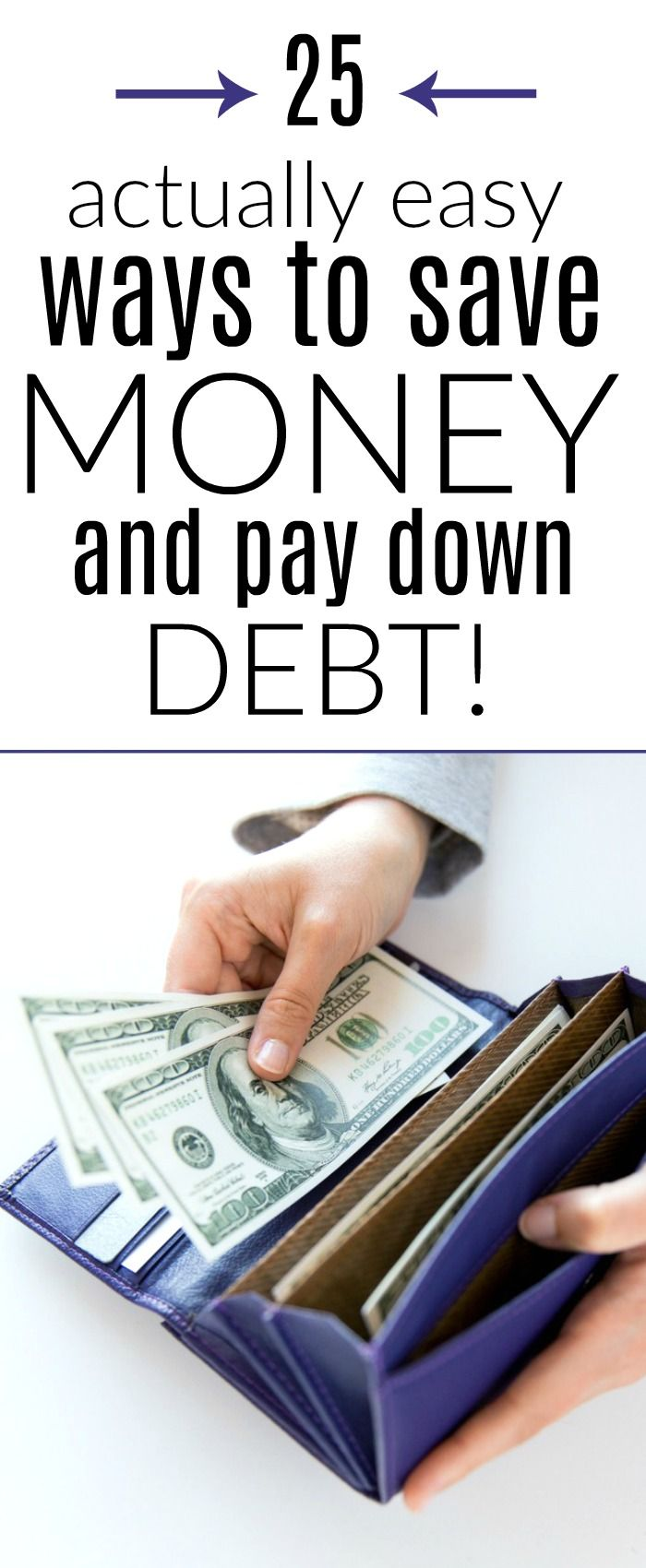 Save money this year with our easy tips. Pay off debt, save money, and live better with our 25 ways to save money.