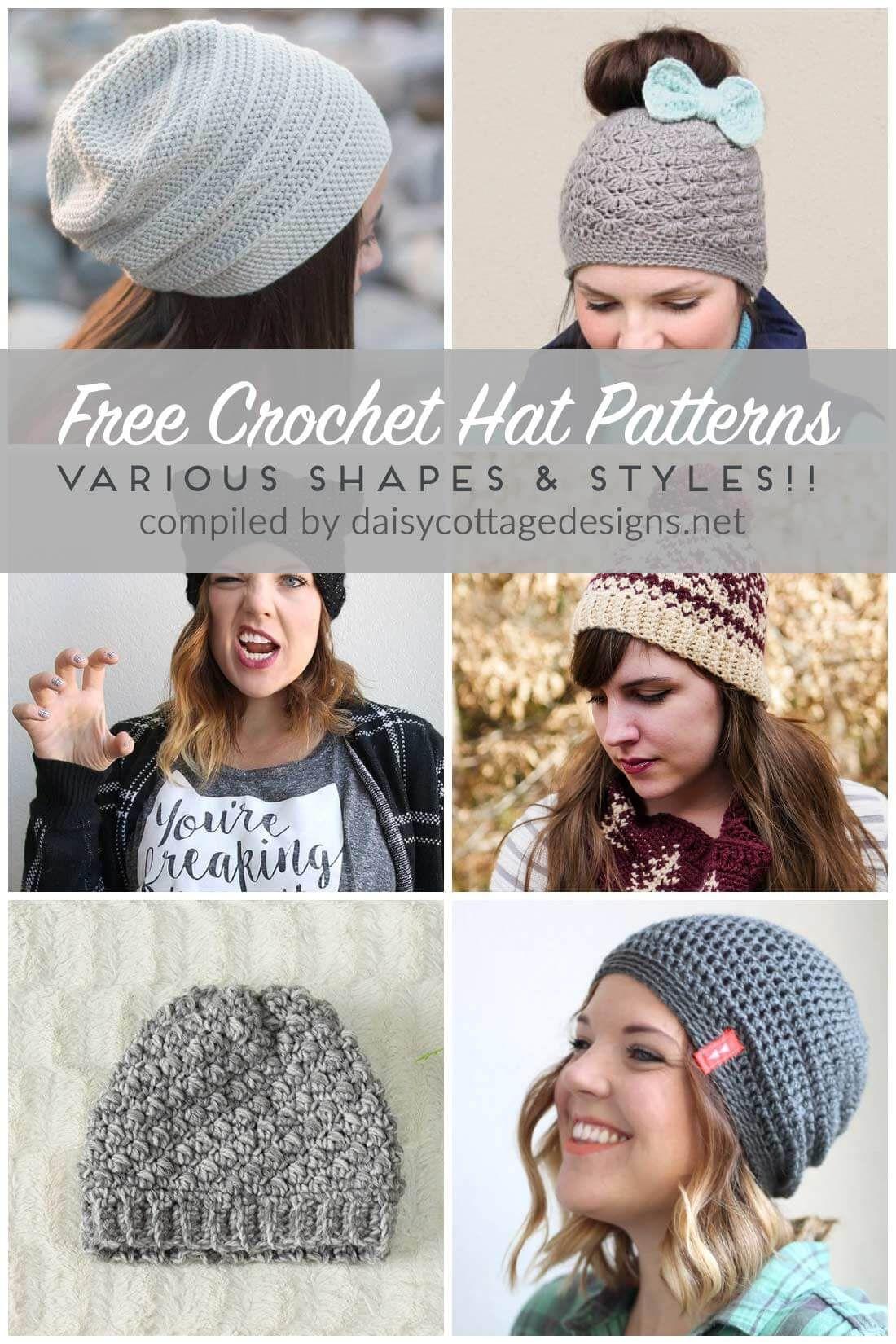 705aae35217 Free Crochet Hat Patterns