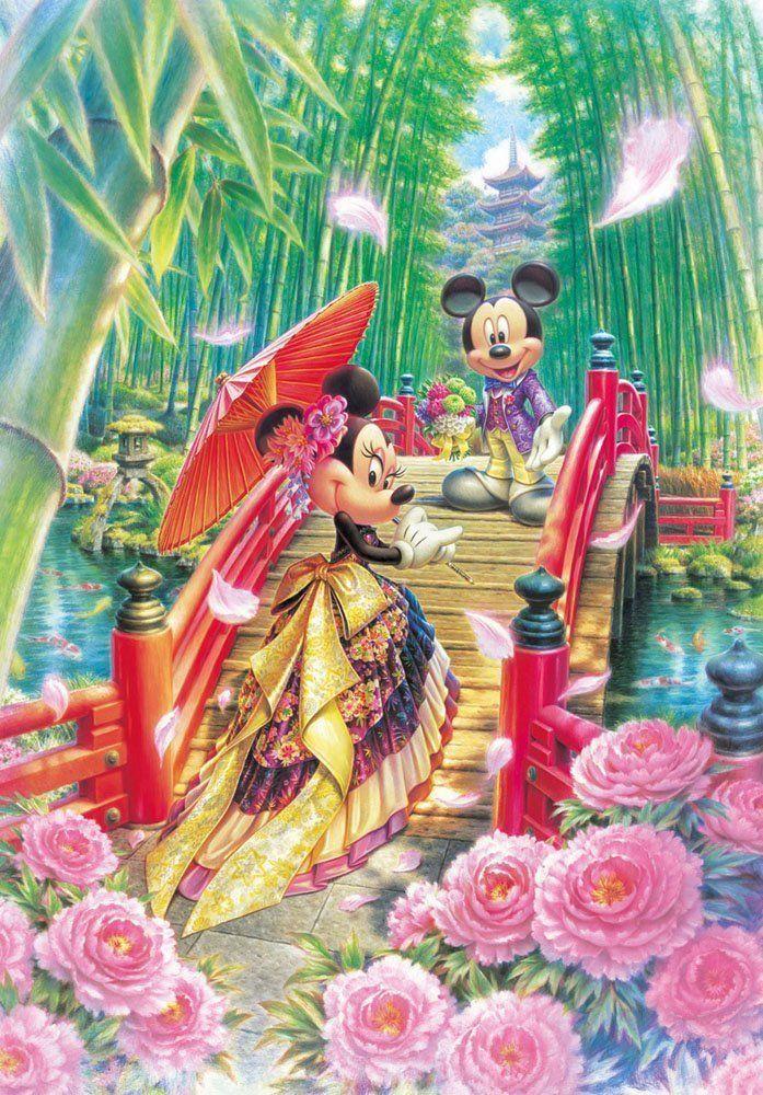Tenyo Japan Jigsaw Puzzle (D-1000-451) Disney MIYABI Japanese ...